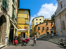 Street in Lucca, Italy Stock Image