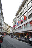 Street in Lucerne, Switzerland. Royalty Free Stock Photography