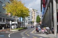 Street in Lucerne, Switzerland. Stock Photos