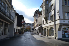 Street in Lucerne, Switzerland. Stock Photography
