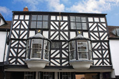 Street in Ludlow. Black and white house in Ludlow Stock Photography