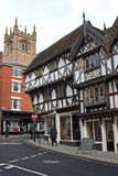 Street in Ludlow. Old houses on a street in Ludlow Royalty Free Stock Photography