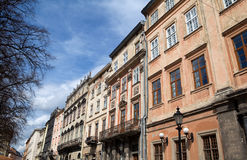Street in Lviv city Stock Photos