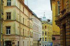 Street in Lviv Royalty Free Stock Images