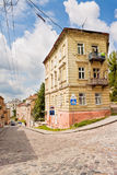 Street in Lviv, Ukraine Royalty Free Stock Photo