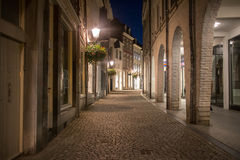 Street in Maastricht, Netherlands. Empty night street in Maastricht, Netherlands Royalty Free Stock Photography
