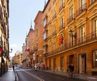 Street  in Madrid. Spain Royalty Free Stock Image