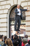 Street magician levitating Stock Photography