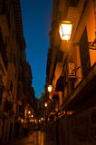 Street in Majorca at dawn Royalty Free Stock Photos