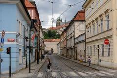 Street in the Mala Strana, Prague Royalty Free Stock Photo