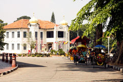 The street of Malacca Stock Image