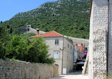 Street in  Mali Ston, Croatia Royalty Free Stock Images