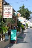 Street in Malia. Stock Photography