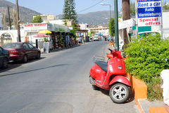 Street in Malia. Stock Images