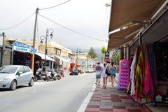 Street in Malia. Royalty Free Stock Image