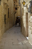 Street of Malta. Mdina Stock Photos