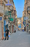 Street in Malta. Valletta, Malta - SEPTEMBER 11, 2013: Typical street in the Malta. Malta is a southern European country in the Mediterranean Sea 80 km (50 mi) Stock Image
