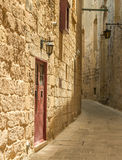 Street in Maltese Mdina Royalty Free Stock Images