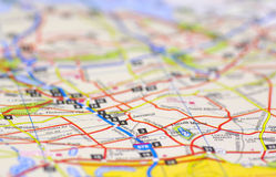 Street Map Royalty Free Stock Image