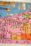Street Map. Close up of a phone book street map with focus on the center Royalty Free Stock Photo