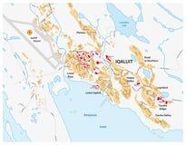 Street map of Iqaluit, Nunavut territory, Canada Stock Photo