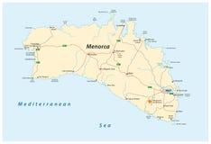 Street map of the Spanish Balearic island of Menorca Royalty Free Stock Photography