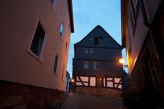 Street in Marburg at night Royalty Free Stock Images