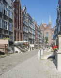 Street mariacka gdañsk poland europe. Vertical view of famous street mariacka in gdañsk stock photo