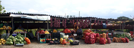 Street market. In romania village - europe work Royalty Free Stock Photography
