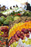 Street Market. Table of Fruits and Vegetables at a Street Market Stock Photo