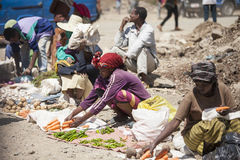 Street market in Addis Ababa Royalty Free Stock Photo