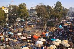 Street market in Ahmedabad Stock Photography