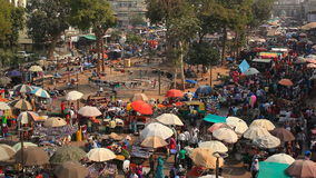 Street market in Ahmedabad stock footage