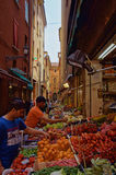 Street Market in Bologna Royalty Free Stock Photos