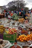 The street market of Bulawayo in Zimbabwe, 16. September 2012. People a the street market of Bulawayo in Zimbabwe, 16. September 2012 stock photography