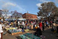 The street market of Bulawayo in Zimbabwe, 16. September 2012. People a the street market of Bulawayo in Zimbabwe, 16. September 2012 royalty free stock photography