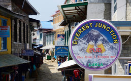 Free Street Market, Cafe And Restaurants Of Lukla,Nepal,Himalayas Stock Photography - 65885652
