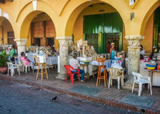 Street Market in Cartagena Colombia Royalty Free Stock Image