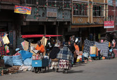 Street market in the center of La Paz, Bolivia Royalty Free Stock Photography