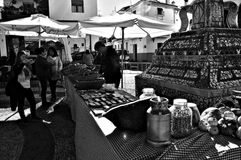 Street market at Fuenteheridos (Huelva) 16 Stock Image