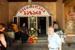 Street market in Georgia Stock Image