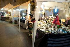 Street market for the Halloween holiday Royalty Free Stock Photo