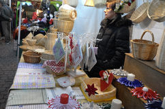 Street market for the Halloween holiday Stock Images