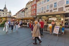 Street market on Hauptplatz square in Graz, Austria Stock Photo