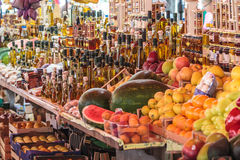 Street market with healthy food royalty free stock photo
