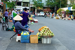 Street Market in Ho Chi Minh City in Vietnam Royalty Free Stock Photography
