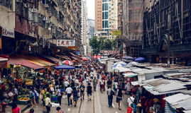 Street market in Hong Kong Royalty Free Stock Images