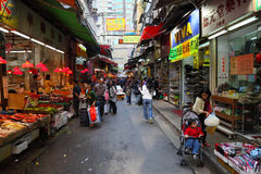Street market in Hong Kong Royalty Free Stock Photo