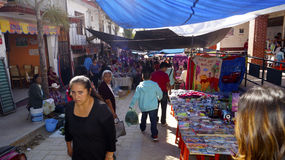 Street market in Ixtapan Mexico Royalty Free Stock Photo
