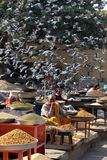 Daily street market in Jaipur Stock Images